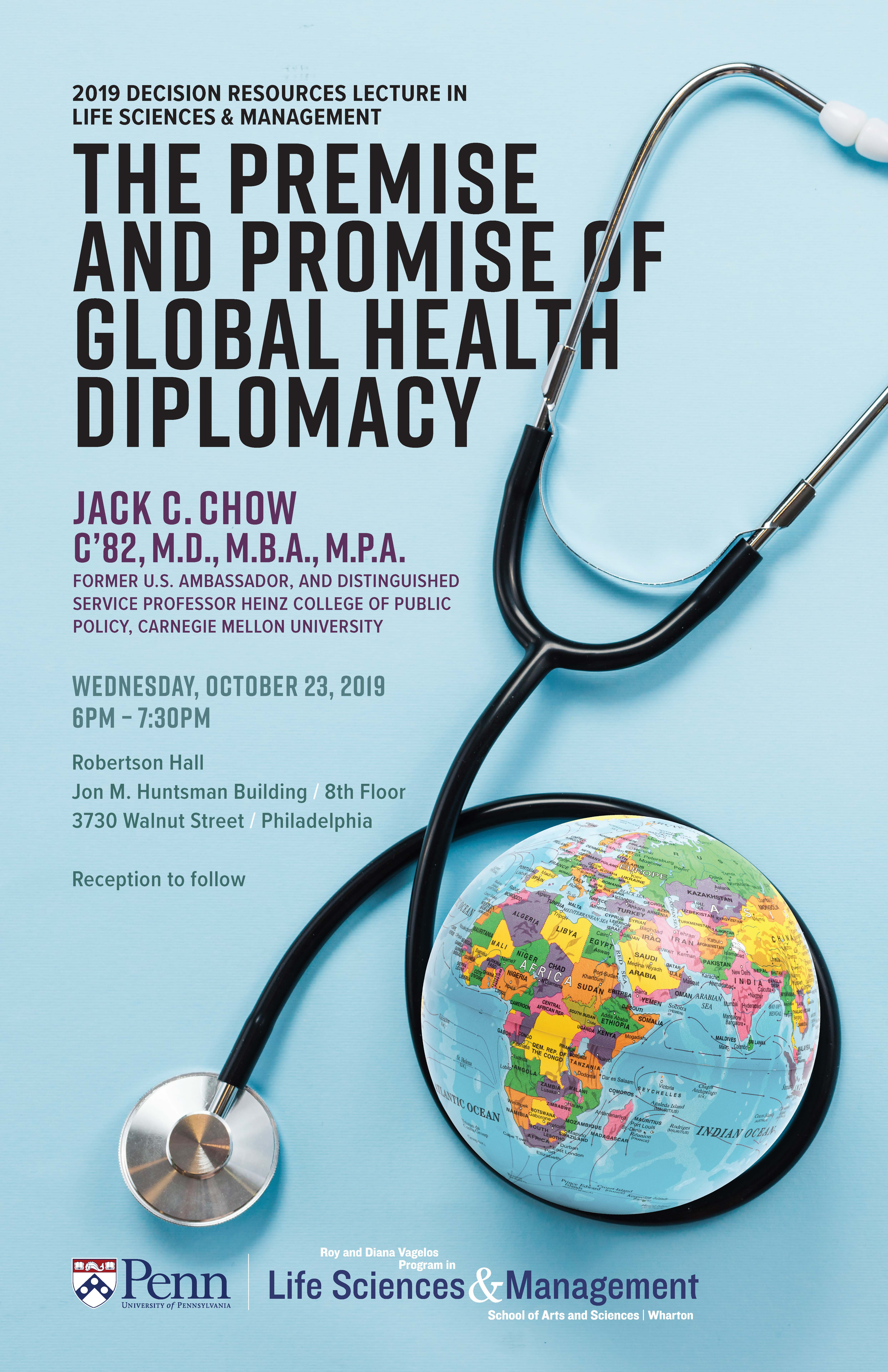 The Premise and Promise of Global Health Diplomacy